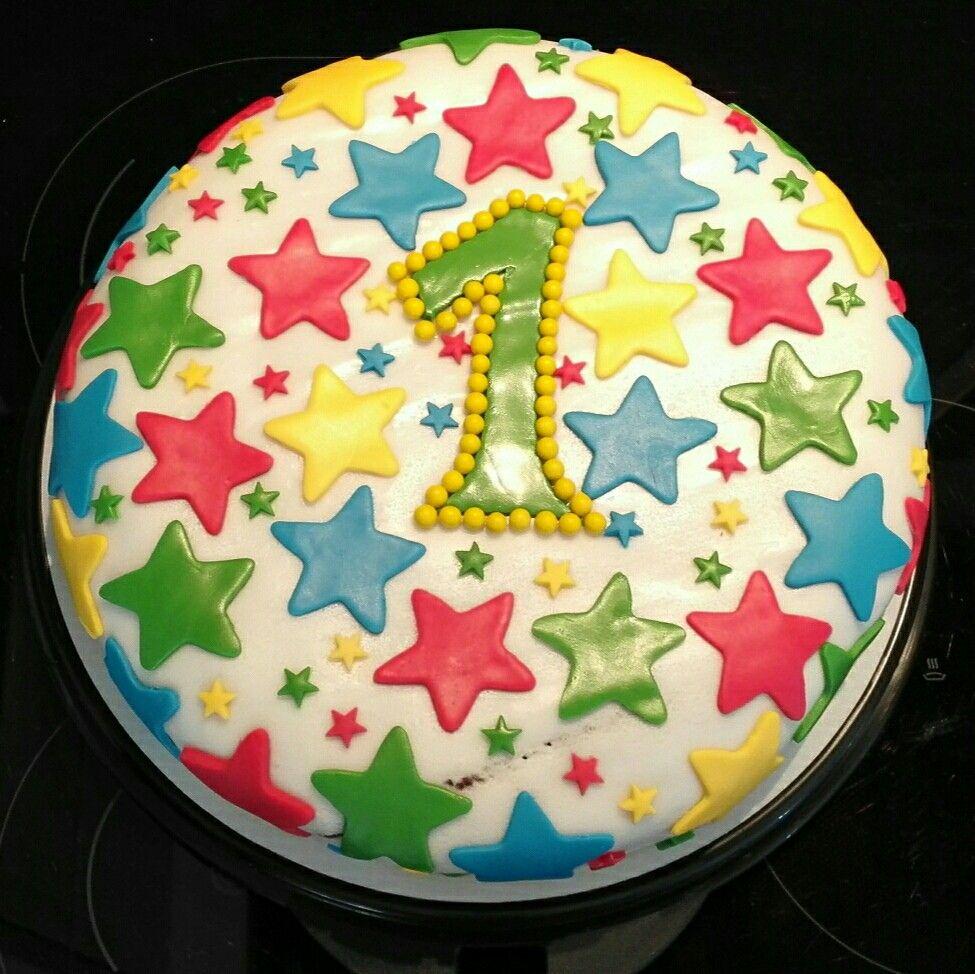 Fondant Torte 1 Geburtstag Sterne Kindertorte Leckereien Kinder Torten