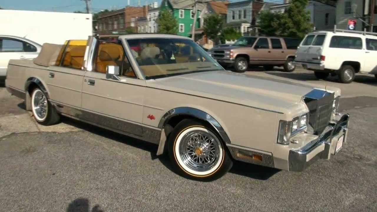 1988 Lincoln Continental Town Car Convertible Tru Spokes Wire