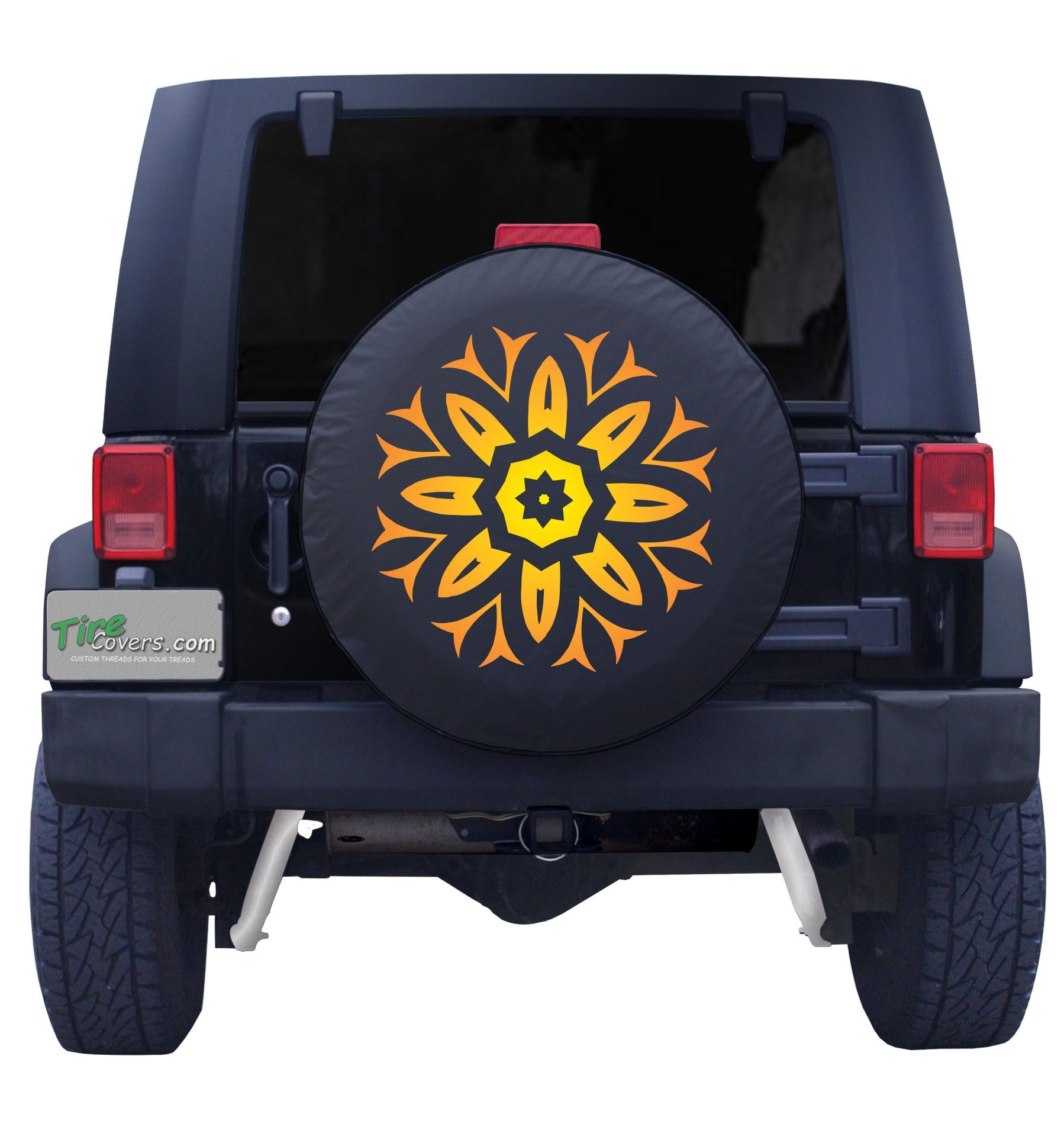Wildfire Sun Burst Tire Cover Jeep Tire Cover Custom Tire