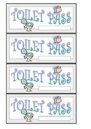 Pin Printable Bathroom Passes Template On Pinterest Bathroom Pass Bathroom Printables Templates