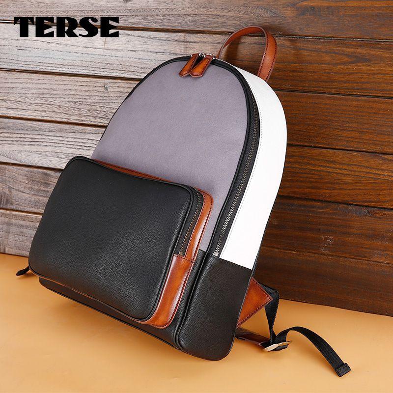Terse 2017 New Backpack Men Women Handmade Genuine Leather Bags ...