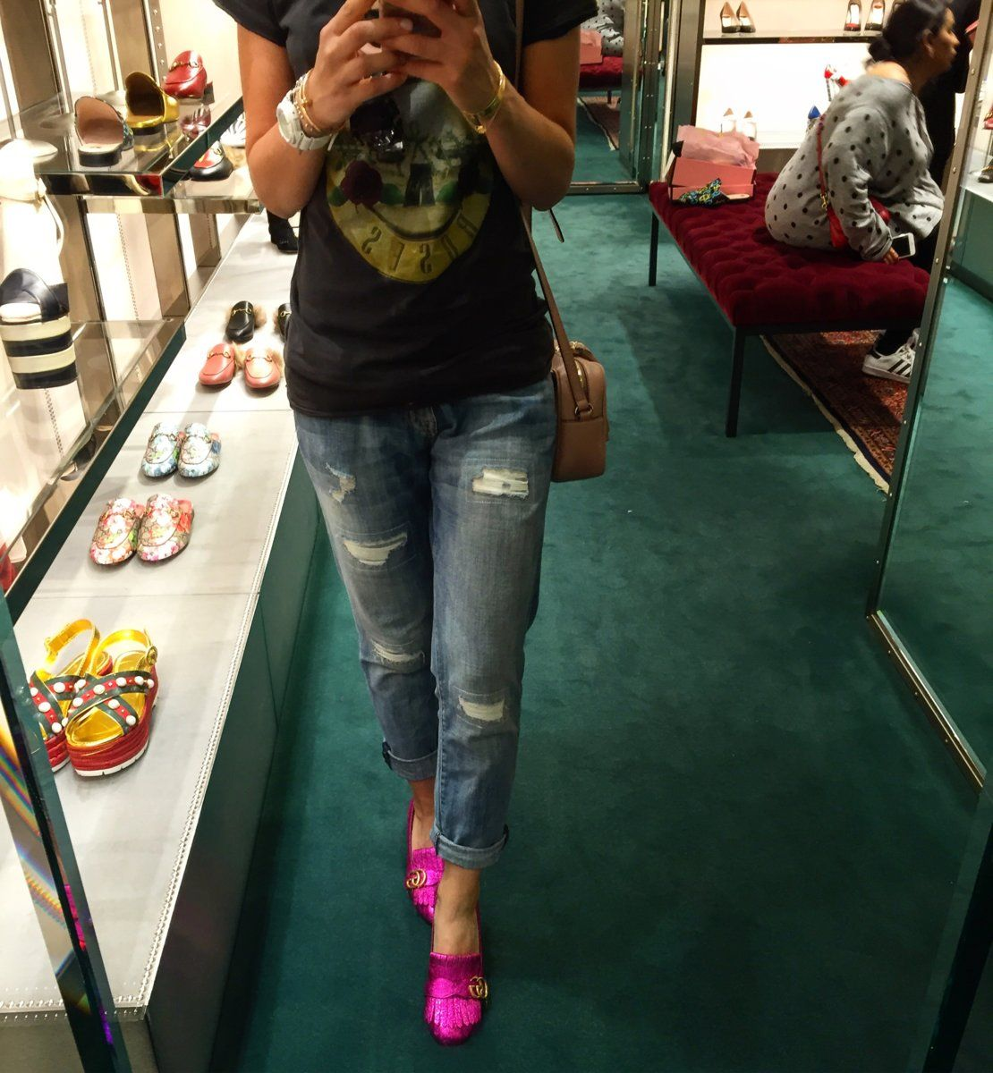 3dc7c4d8d5cb Denim and Gucci Marmont Shoes- Let's spread the love ❤ - PurseForum