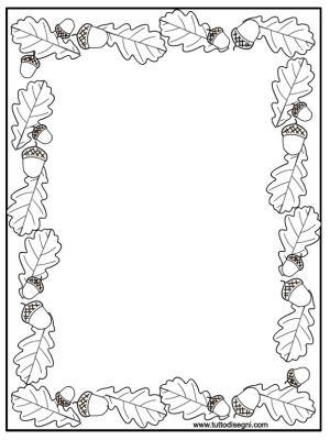 Cornicetta Autunno Da Colorare Frames Page Borders Autumn Theme