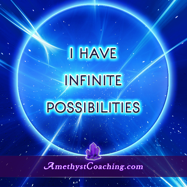Today's Affirmation : I have infinite possibilities  Visit us www.amethystcoaching.com Personal Coaching Site #affirmation #coaching Like us on Facebook Here https://www.facebook.com/amethystcoaching?ref=hl‬