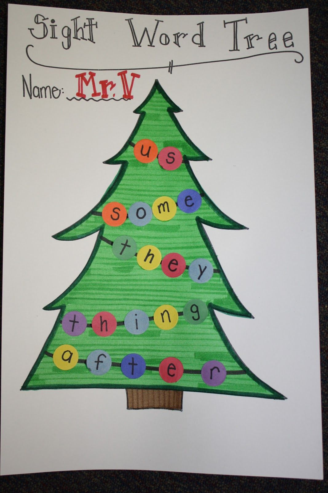 Sight Word Christmas Tree Could Do This With C S Name