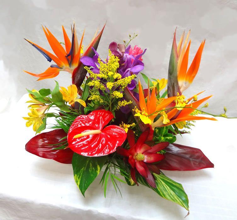 Centre De Table Tropical Exotique Fleur Naturel Et Arrangement