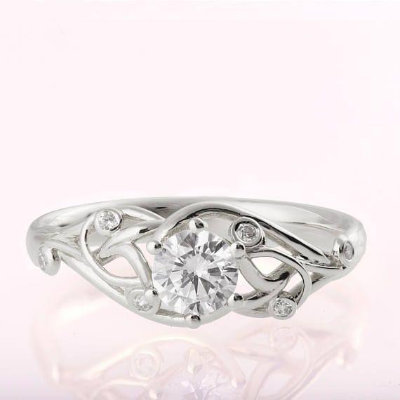 Celtic Engagement Ring Platinum Engagement Ring Unique Etsy In 2020 Celtic Engagement Rings Yellow Gold Wedding Ring Celtic Engagement