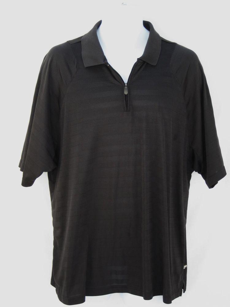 Adidas Men's ClimaCool Short Sleeved Polo Golf Shirt L Black #Adidas #PoloShirt