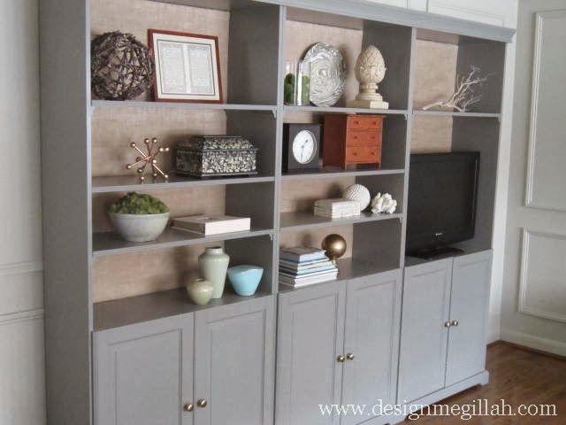 Liatrop boekenkast en servieskast met glazen deurtjes - Kasten ...