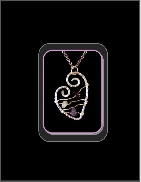 Healing Heart Necklace Inner Peace attract by RosesWireArtJewelrY, $38.00