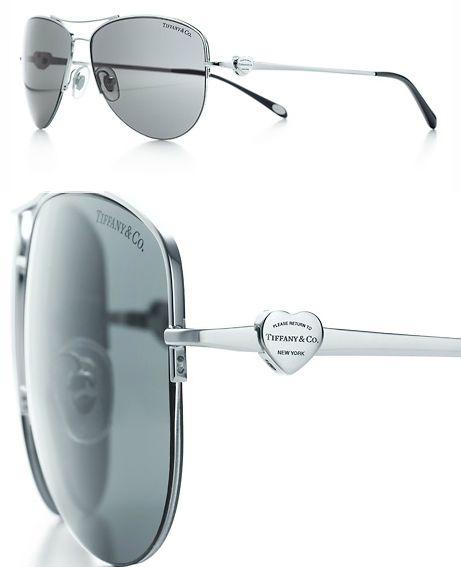 368eaa9ccbbc Return to Tiffany™ aviator sunglasses with silver-colored embellishment -   275 CDN