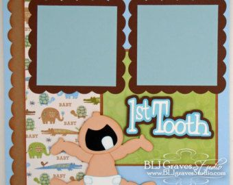 Premade Scrapbook Pages Titles Die Cuts & Paper by