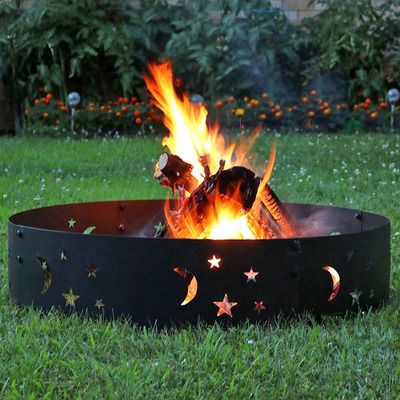 Sunnydaze Big Sky Campfire Ring 36 Inch Diameter Garden Fire Pit Fire Pit Backyard Wood Burning Fire Pit