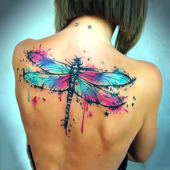 Photo of Grande aquarelle libellule tatouage idée – Grande aquarelle libellule tatouage …