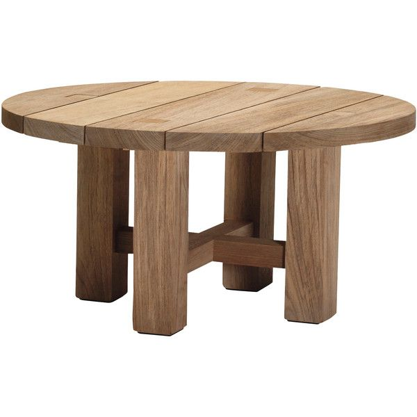 Croquet Natural Teak Round Outdoor Coffee Table 1559