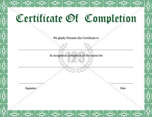 Completion certificate archives free premium 123 certificate completion certificate archives free premium 123 certificate templates yelopaper Gallery