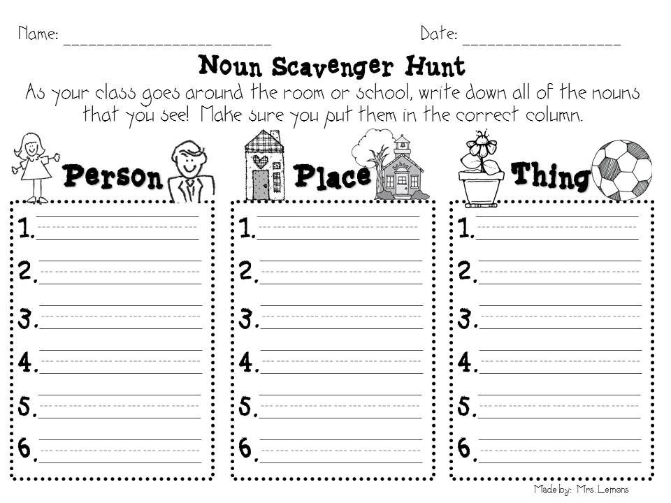 Printables First Grade Noun Worksheets 1000 images about worksheets first grade on pinterest reading student and words