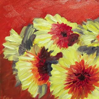 Lisa M. Payne Studio: Yellow and Red Gerberas