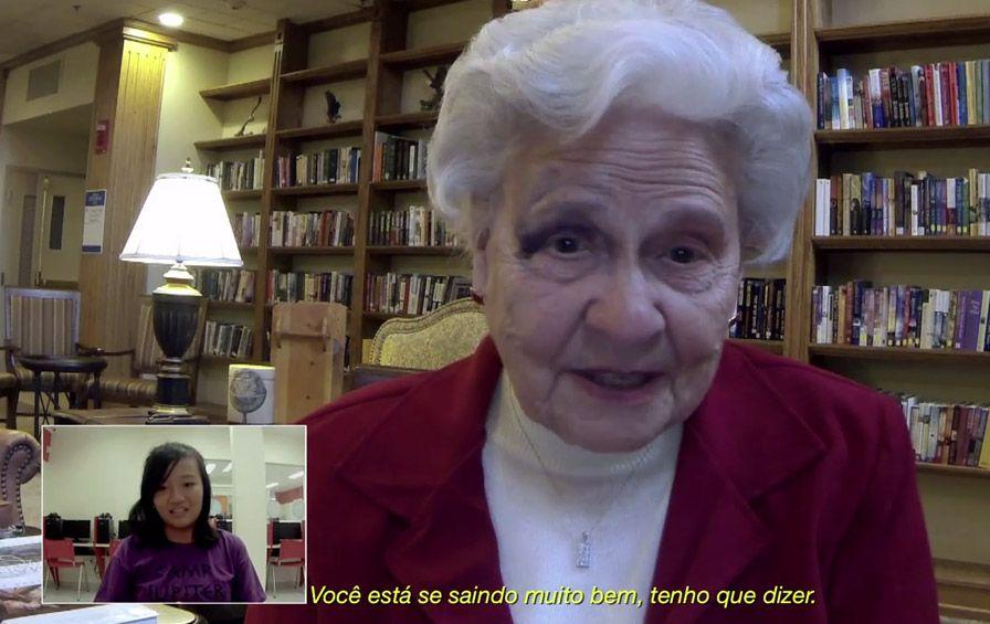 Escola de Idiomas que utiliza-se de velinhos aposentados para darem as aula de conversação.
