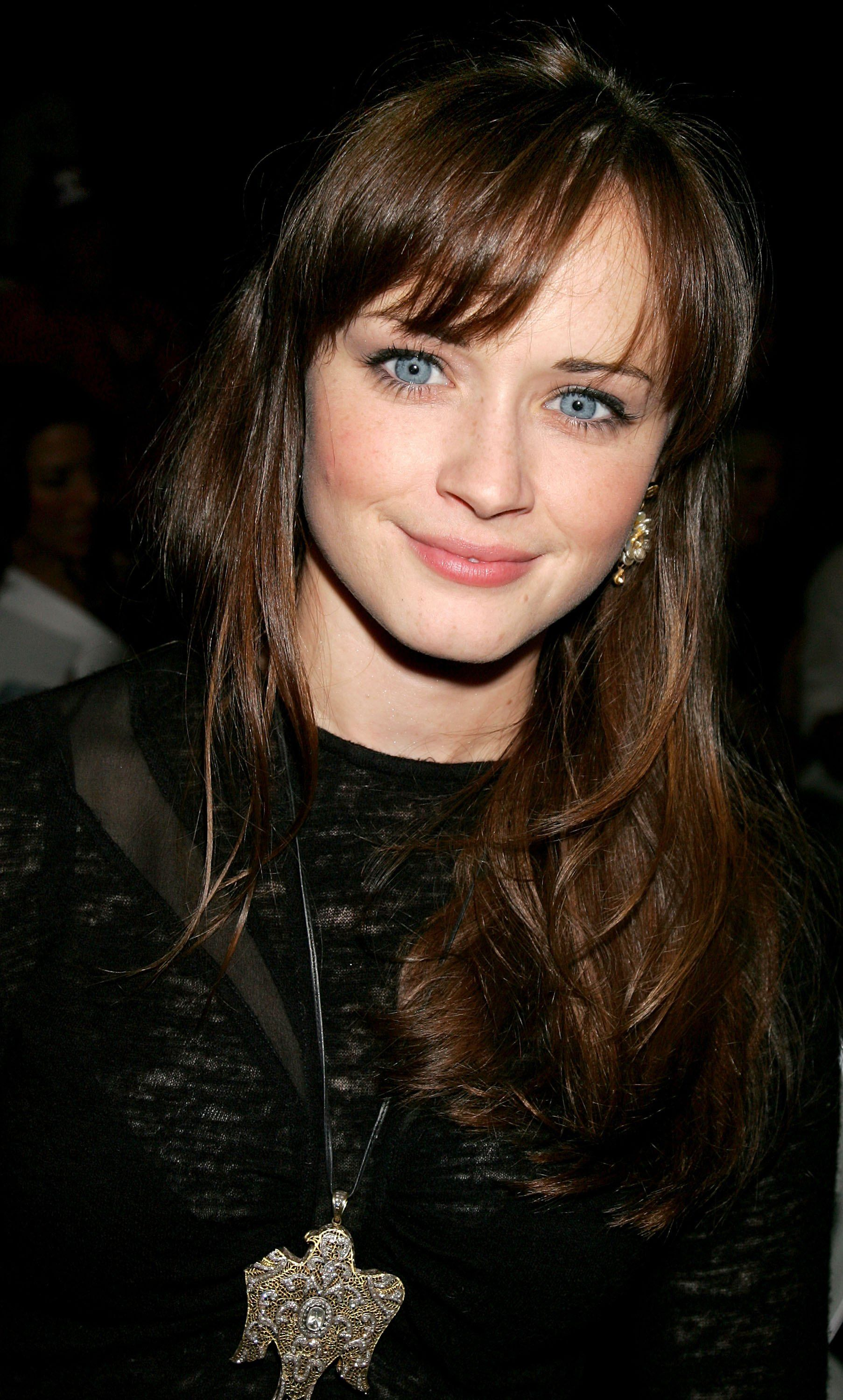 Double side haircut for boys bangs  alexis bledel  hair  pinterest  alexis bledel bangs and face