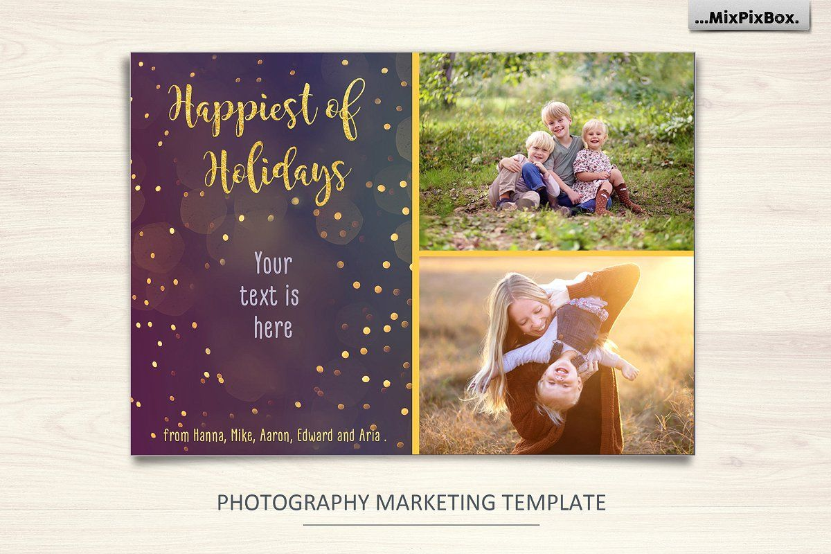 Christmas Card Merry And Bright Christmas Card Template Merry And Bright Christmas Cards