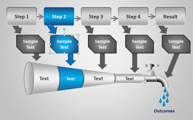 pipeline analysis for powerpoint | funnel | pinterest | template, Modern powerpoint