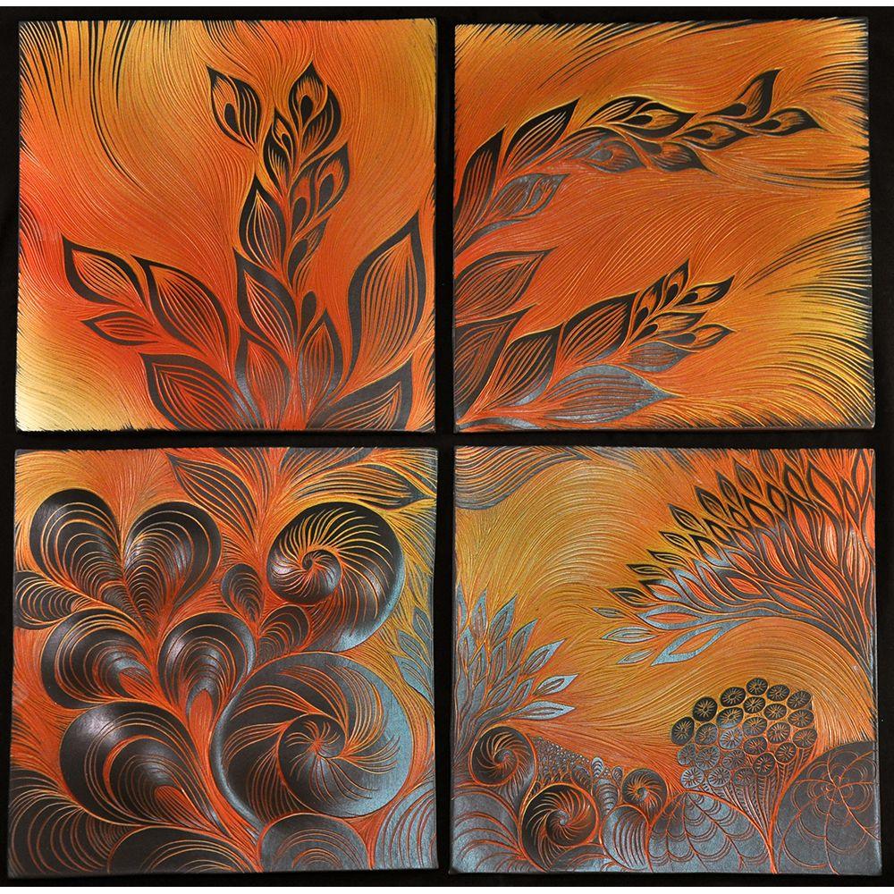 Handmade Sgraffito Carved Ceramic Wall And Backsplash Tiles By Natalie Blake Tile Artwork Tile Art Ceramic Wall Art