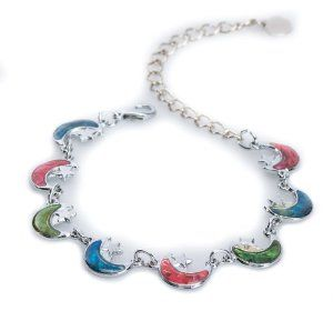 Silver Paua Shell Crescent Moon Link Anklet by Jewely Nexus Jewelry Nexus. $9.99. Lead Free and Nickel Free. Free gift wrapping.