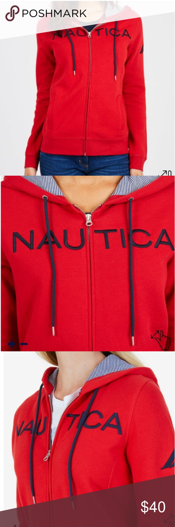cb5db9d93 New with tags Nautica Women's Hoodie Nautica Women's Signature Full-Zip  Logo Hoodies*80%Cotton, 20%Polyester *Rubbed Cuff &Hem,Welt Packets*Brand  New with ...