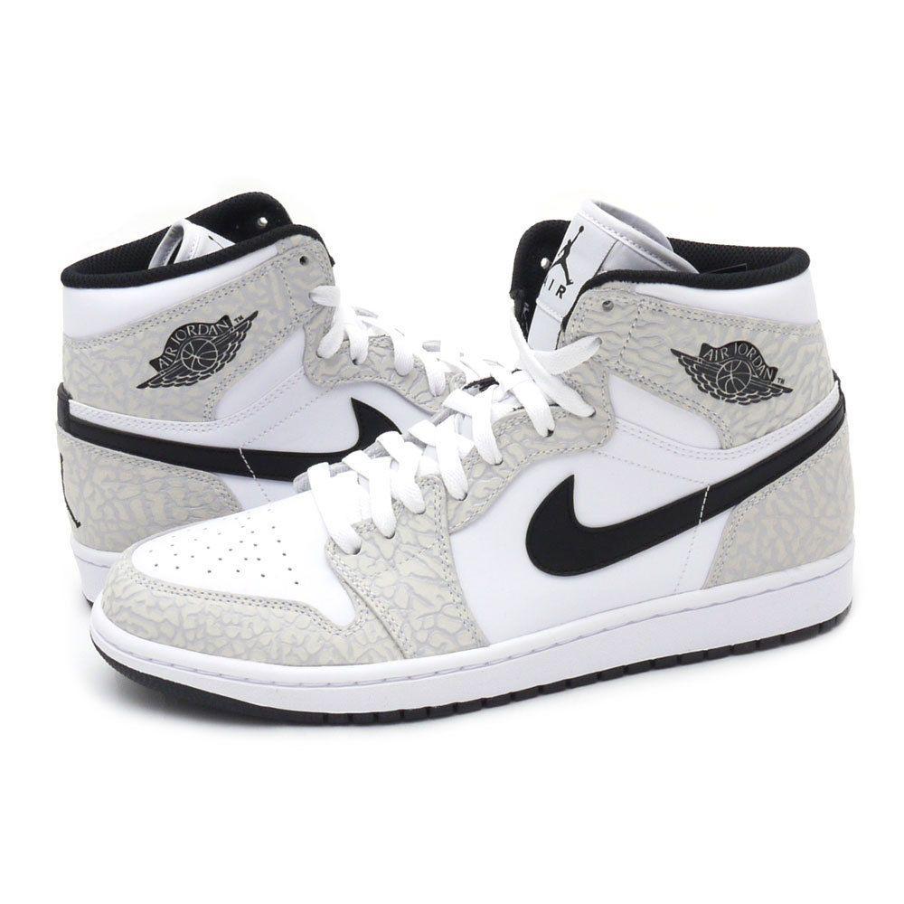 new products 33f67 2764c Nike Men s Air Jordan 1 Retro High 839115 106 White Black Platinum  Nike   BasketballShoes