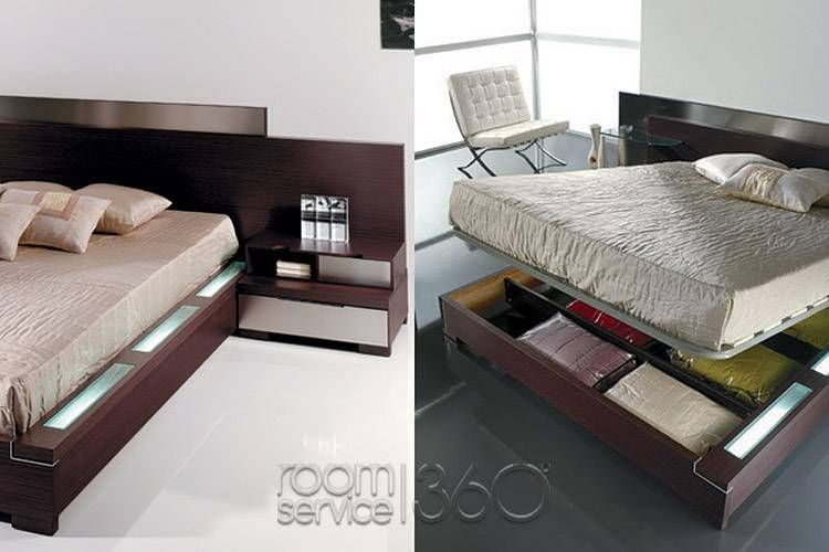 Functional Storage Modern Platform Bed With Storage Italian