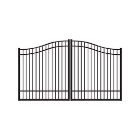 Freedom 12 Ft Black Aluminum Driveway Gate Lowes Home Improvements Aluminum Driveway Gates Home
