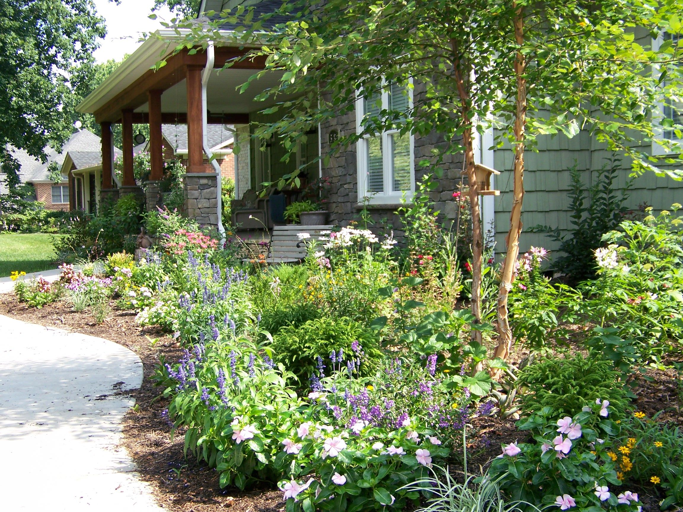 Cottage gardens my cottage garden today for Craftsman landscape design ideas