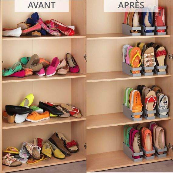 Range Chaussures Plates Gain De Place Lot De 3 Garageideasstorage 3 Range Chaussures Gain De En 2020 Rangement Chaussures Rangement Sous Vetement Rangement Vetement