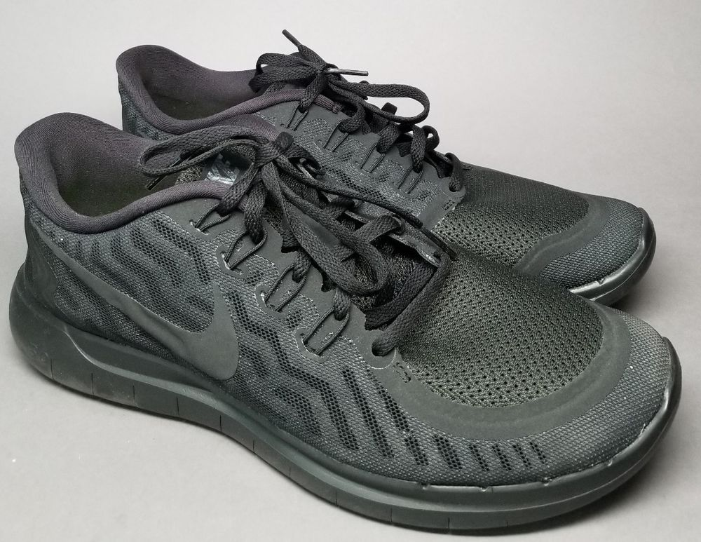 Nike Free 5 0 Barefoot Ride Black Mesh Running Sneakers Men S Us