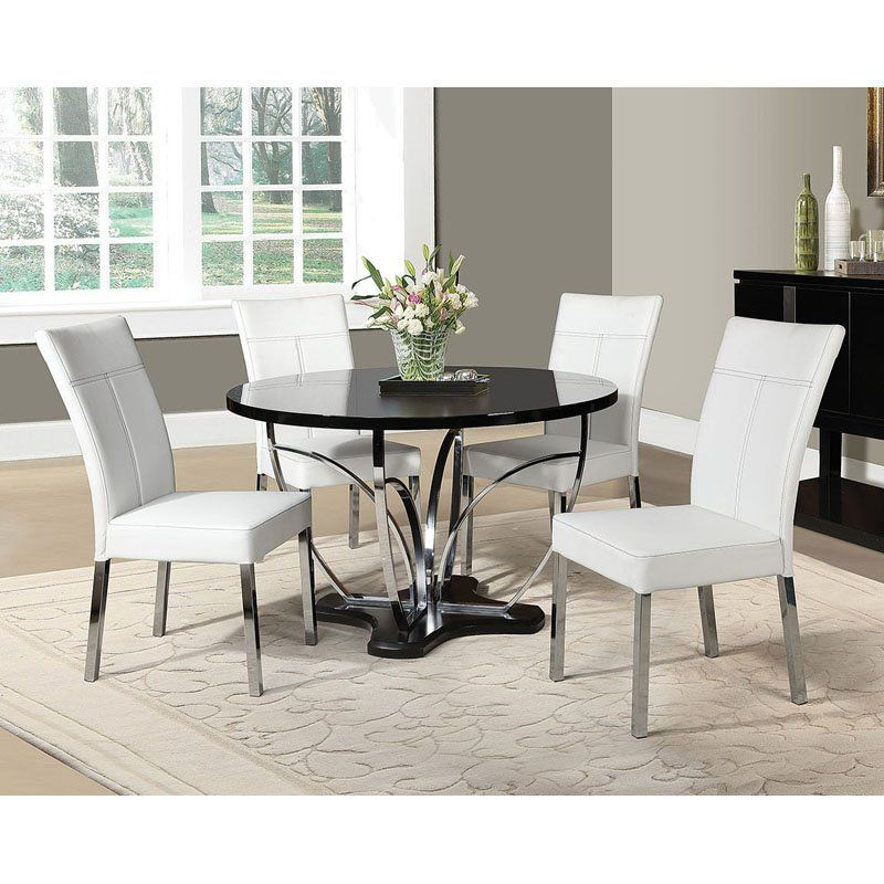 Best Acme Furniture Danny 5 Piece Round Dining Table Set 400 x 300