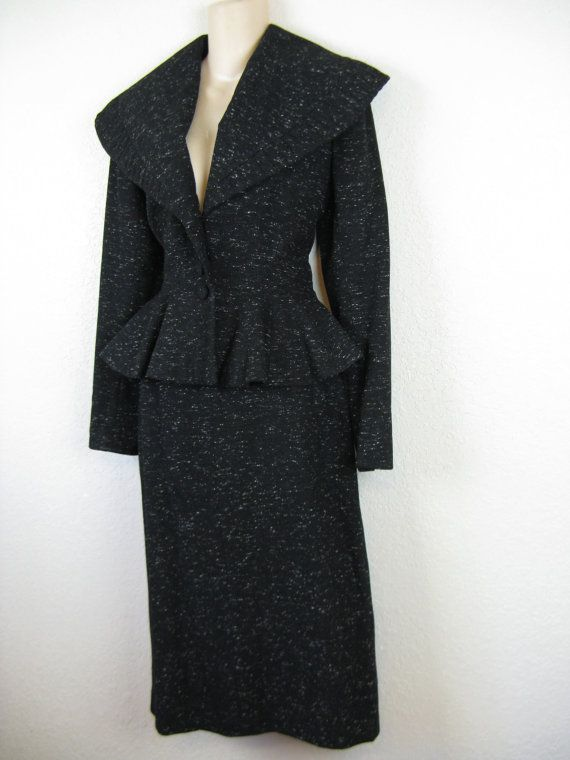 1940's lilli ann new look skirt suit