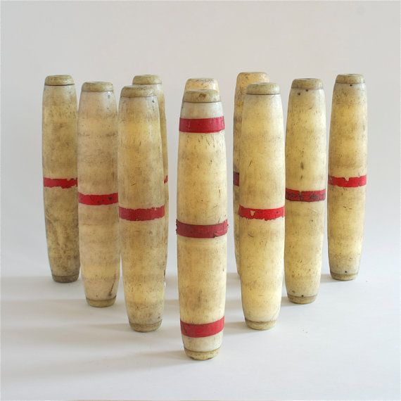 vintage candlepin bowling pins | Vintage in 2019 | Bowling