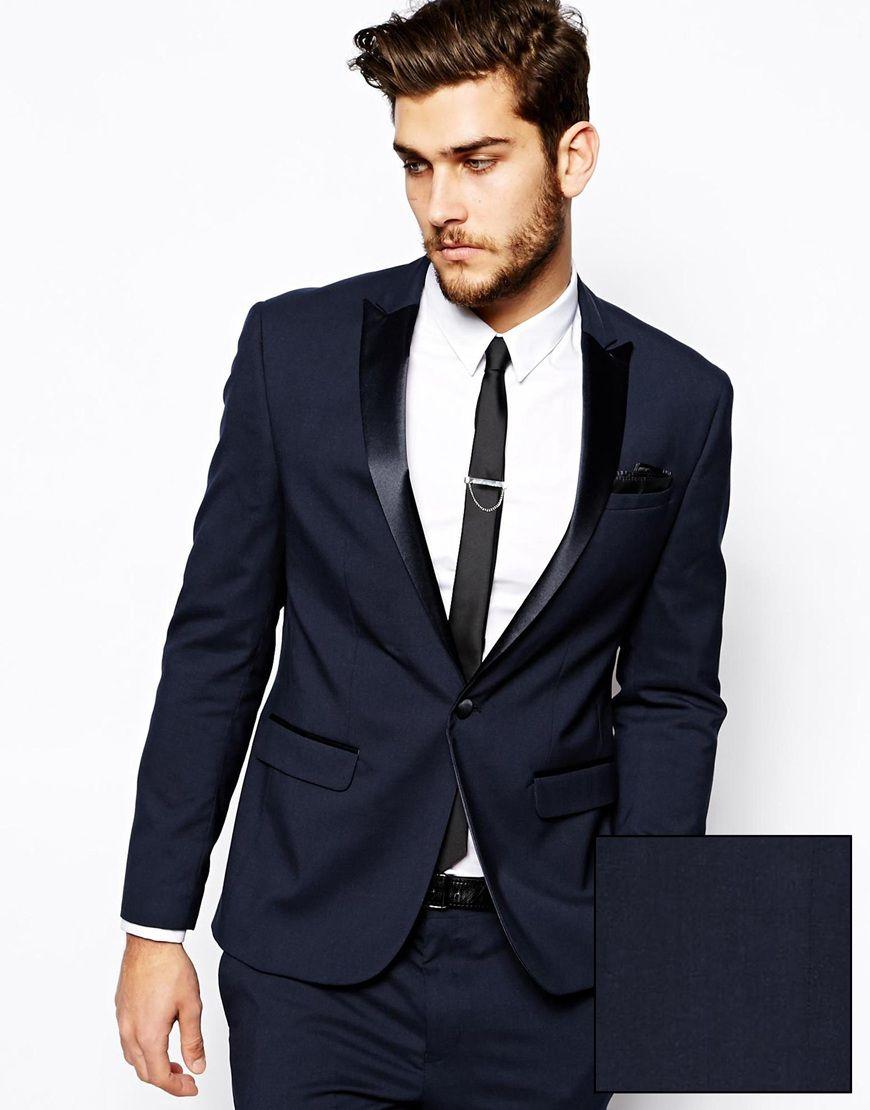 ASOS Slim Fit Tuxedo Suit Jacket | Groom Fashion | Pinterest ...