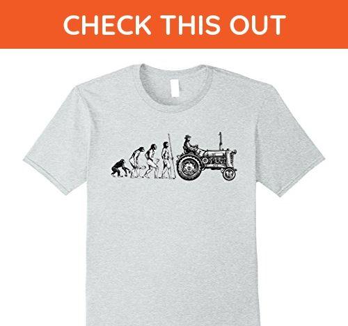 Mens Funny Farm Shirts | Farming Evolution | Farmer Gift XL Heather Grey - Funny shirts (*Amazon Partner-Link)