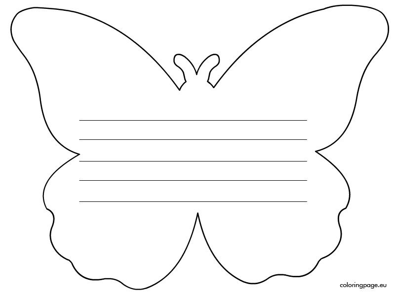 Writing Paper Butterfly      Writing Paper