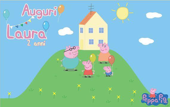 PEPPA PIG Backdrop Digital Customizable Printable Birthday