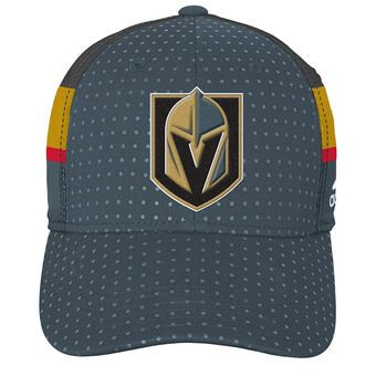 7194370c8c9 Youth Vegas Golden Knights adidas Black 2017 Draft Flex Hat | NHL ...