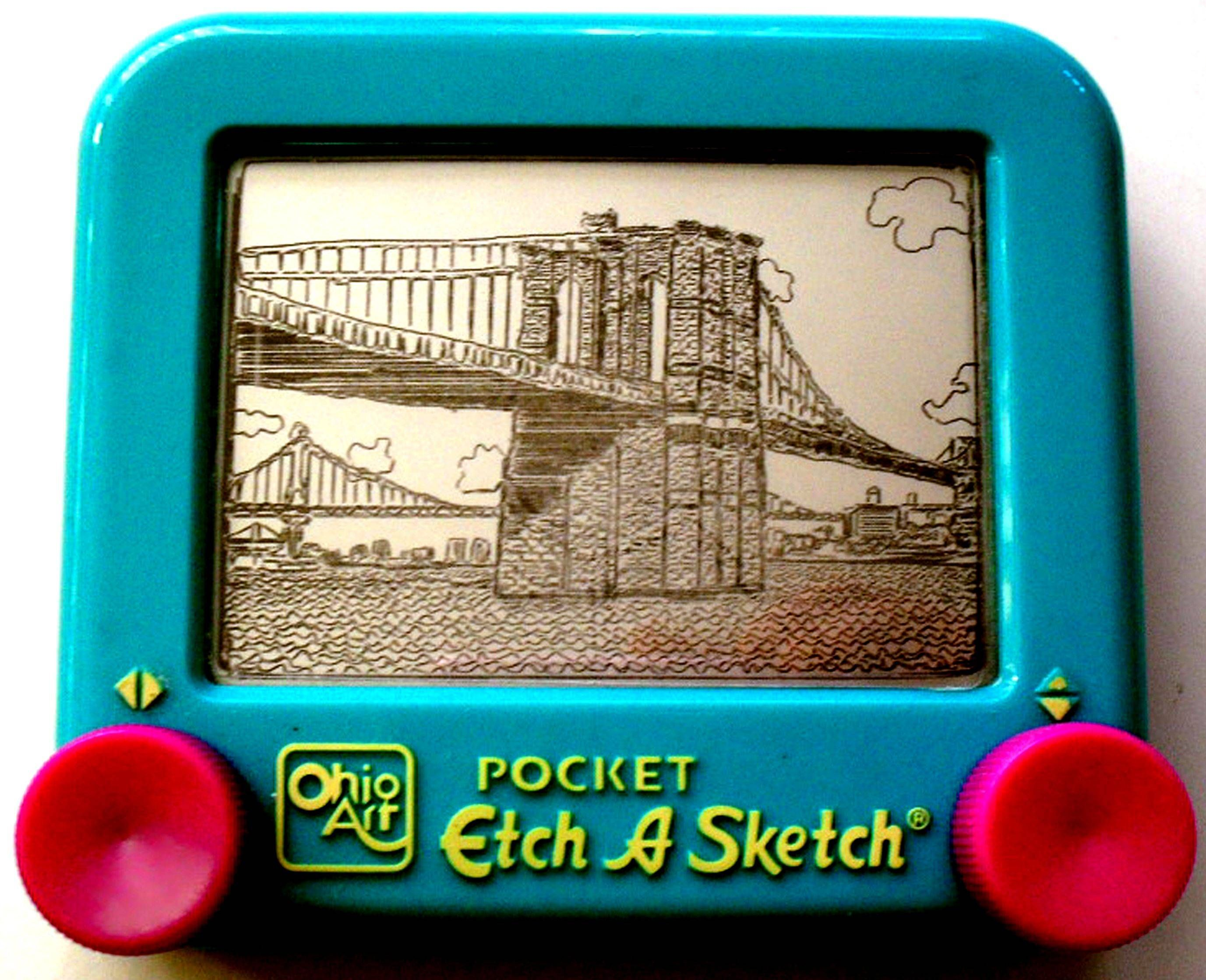 Etch a sketch art all grown up from