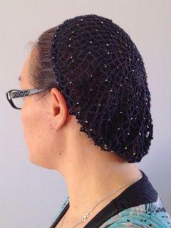 Vintage Crochet PATTERN to make Beaded Snood Hairnet hair net