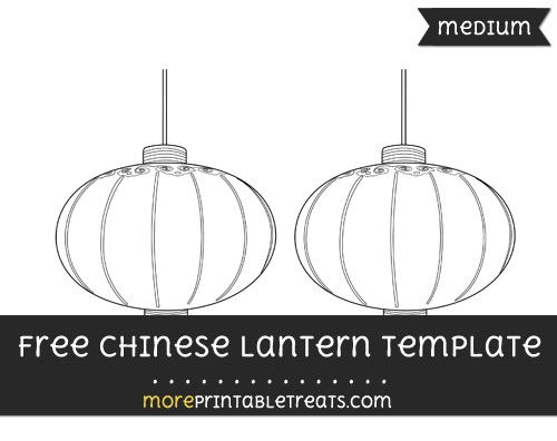 Free Chinese Lantern Template - Medium | Shapes and Templates ...