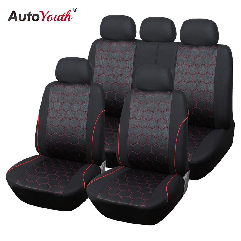 Autoyouth Soccer Ball Style Jacquard Full Car Seat Covers Set Universal Fit Ebay Car Interior Accessories Carseat Cover Car Seats