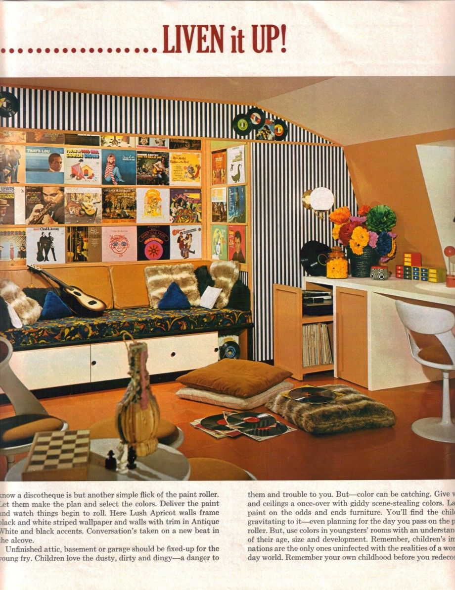 1960S Interior Design 16 Mod Interior Designs From 1968  Attic Renovation Attic And