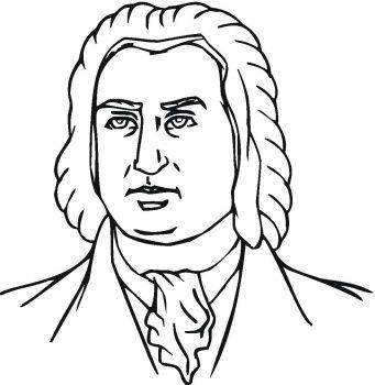 Johann Sebastian Bach Coloring Page Sebastian Bach Coloring