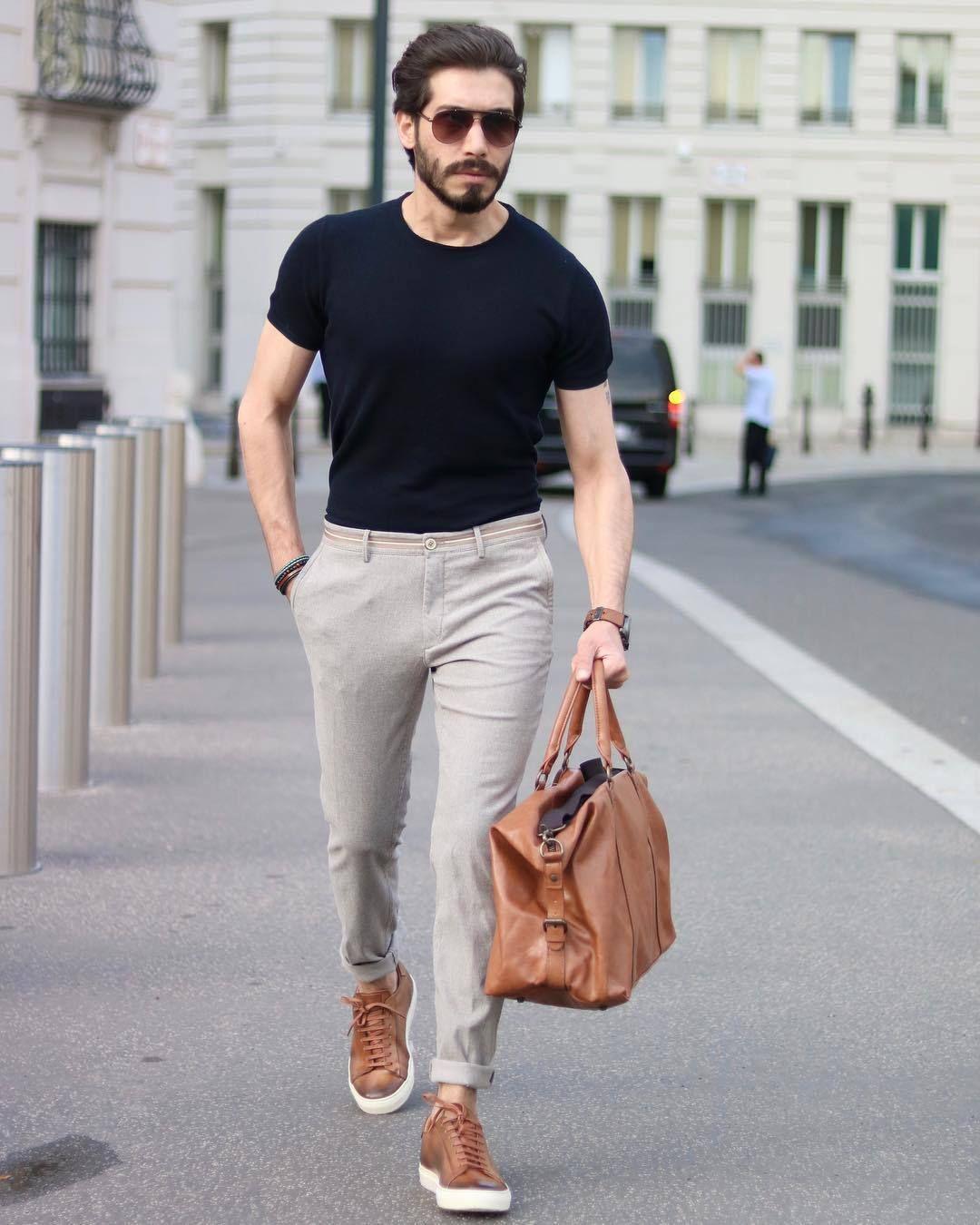 5 Pants T Shirt Outfits For Men Men Fashion Casual Outfits Mens Fashion Casual Outfits Mens Outfits